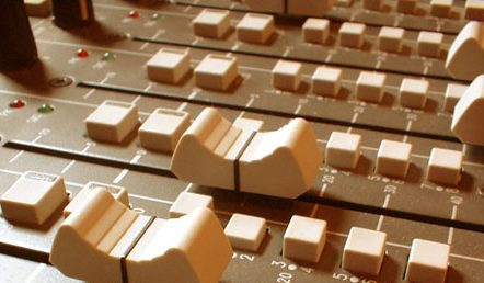mixer desk faders