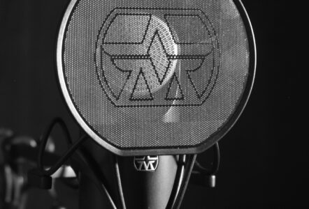 Aston Element microphone and pop shield Photo by Louis Radley