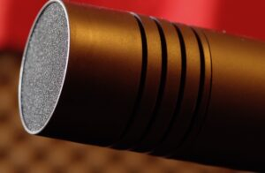 Aston Stealth microphone close up Photo by Louis Radley