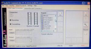 Audio TX screen view